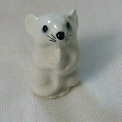 Vintage Szeiler Pottery, 1950s Small Mouse, For Brandy Glass • 10£