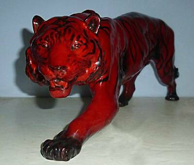 Early Large DOULTON FLAMBE Figure Of A TIGER - HN1082 C.1950 • 395£