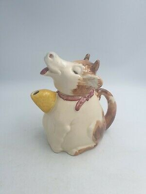 Vintage Price Kensington Ceramic Sitting Dreaming Cow Shaped Teapot Hand Painted • 21.99£