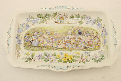 Royal Doulton Brambly Hedge Rare The Picnic Sandwich Plate • 125£