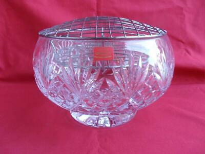 Heritage Crystal - Large Rose Bowl With Metal Insert • 32.50£