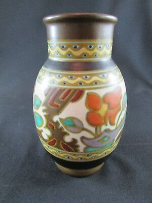 Rembrandt Holland Gouda Style Pottery Hand Painted Vase C.1920s • 65£
