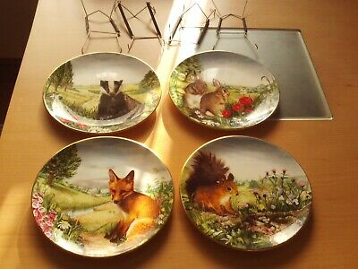 Royal Doulton Country Wildlife Collection Plates Set Of Four 1990 D. Allwright. • 19.99£