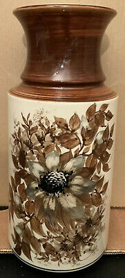 Vintage Flower Vase Earthenware Jersey Pottery 1970s Brown And Cream Retro • 18£