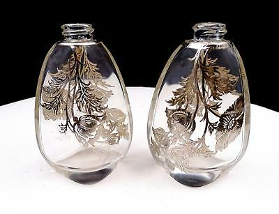 Silver City Cambridge Flanders Sterling Overlay 3 5/8  Salt And Pepper Shakers • 25.46£