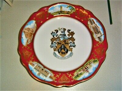 Stunning Spode Limited Edition Plate Of 200 Crest And Scenes Of Huddersfield • 18£