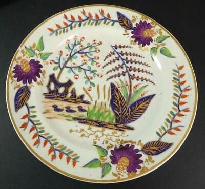 EARLY DERBY DINNER PLATE CHINOISERIE PATTERN C1810 HAND PAINTED • 19.50£