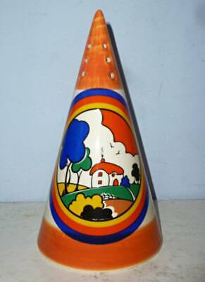 Moorland Clarice Cliff Art Deco Huntley Cottage Conical Sugar Sifter • 39.95£
