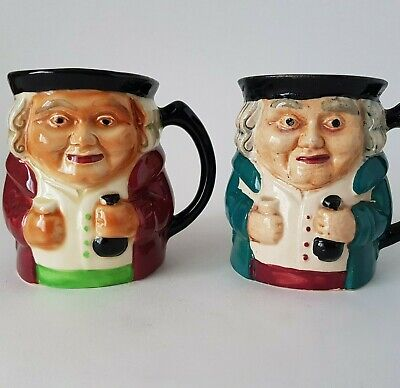Two Vintage Shorter & Sons Staffordshire Pottery Character Jugs Toby Jugs :A6 • 14.99£