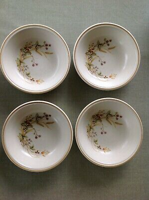 Marks & Spencer M & S ~ HARVEST 4 X  17 Cm SOUP / CEREAL / DESSERT BOWL • 12£