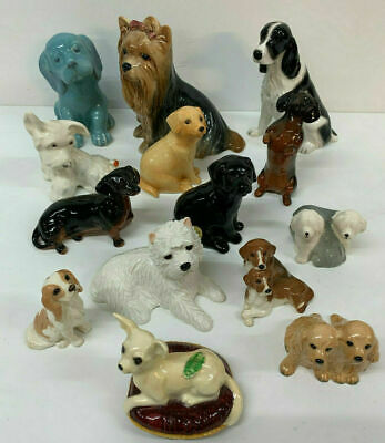 Beswick Dogs Collection 14 Assorted Small Porcelain Terrier Labrador Spaniel • 129£