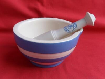 T.G. Green - Blue Cornishware - Small Pestle & Mortar • 16.50£