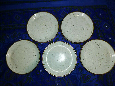 Purbeck Pottery Side Plates X 5 Portland? Design • 12£