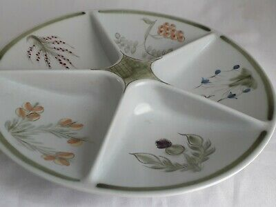 Buchan Stoneware Studio Pottery Beautiful  5-Section Hors D'oeuvres Serving Dish • 28£