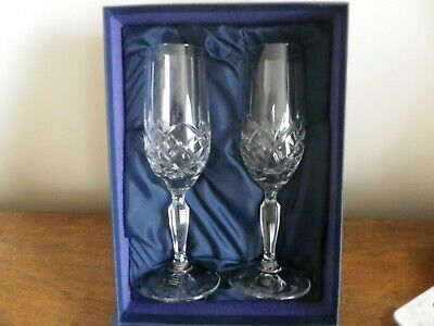 Set Of Two Boxed New Sherry Glasses German Crystal • 11.99£