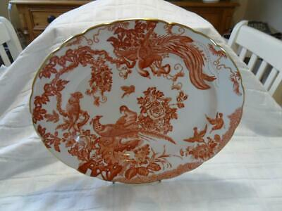 Royal Crown Derby, Red Aves, Oval Platter (13  X 10.75 ) A • 39.99£
