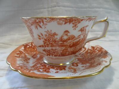 Royal Crown Derby, Red Aves, Large Breakfast Cup & Saucer • 65£