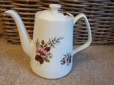 Lord Nelson Pottery Tea Pot. Vintage 1973 Pink Floral Design • 10£
