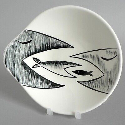 Midwinter Pottery Jessie Tait Rare Fish Variant Pattern Lugged Bowl Trial Piece • 50£