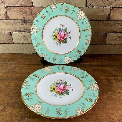 Pair Of Royal Crown Derby Plates, 'Vine' Design, Signed F. Garnett • 26.50£