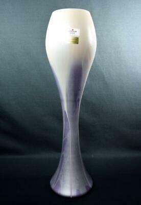 Contemporary Art Glass German Vase By Zwiesel 40cm Tall With Label • 49.99£