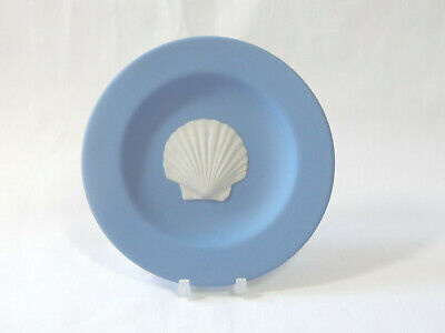 Wedgwood Trinket Tray Classic Blue Seashell Scollop Scallop Small Vintage • 29.99£
