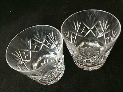 Pair Of Good Quality Glass Crystal Cognac Whisky Tumblers Glasses • 7£