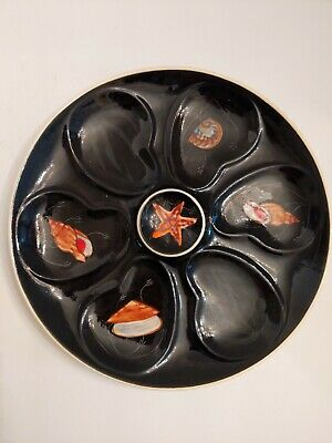 HENRIOT QUIMPER Starfish Oyster Plate Trevoux French Faience 1950 • 54.86£