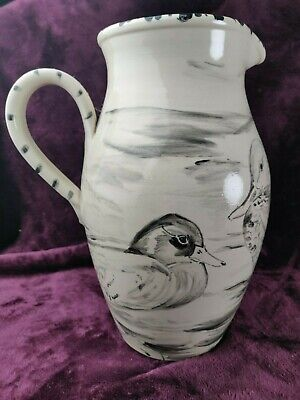 Zanna Wilson For Buchan Freehand Painted Artist Duck Jug - COA Scottish Artist  • 295£