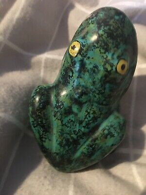 Italian Cantagelli Pottery Green Open Mouthed Frog Unusual • 4.99£