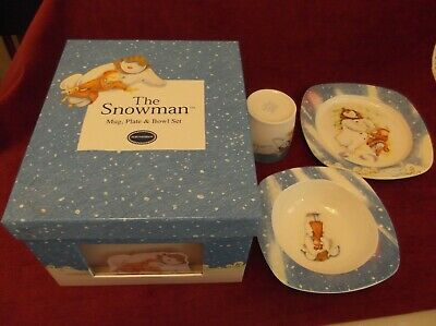 Portmeirion Snowman Breakfast Set Of Plate, Bowl And Mug In Box. • 12.99£