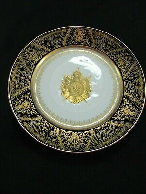 First Empire Serves Amorial Dinner Plate Napoleonic Coat Of Arms C.1804-14 • 195£