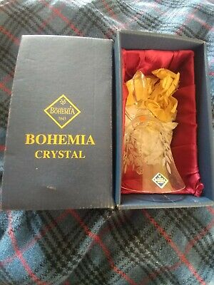 Bohemian Crystal  Bell. Has The Original Label On And Boxed • 2£