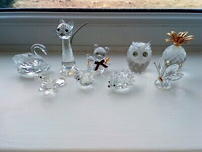 Genuine Swarovski Ornaments, 9 Items Of Which Some Are Retired Pieces  • 100£