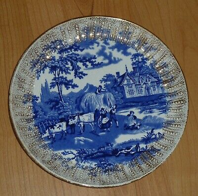 Scottish Pottery Blue And White  Wall Plaque J&MP Bell Glasgow • 14.99£