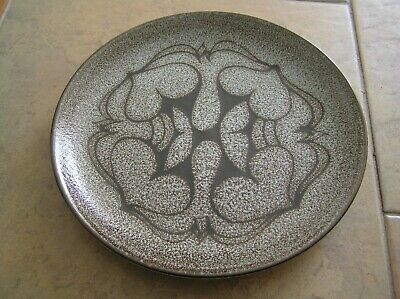 A Poole Pottery Aegean Grey & Black Plate: Shape 3a: 8  Across: Vg Condition • 8£