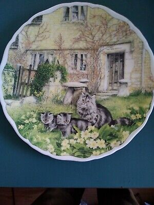 Royal Albert, Cats & Cottages Collection, Plate,  First Outing   • 4£