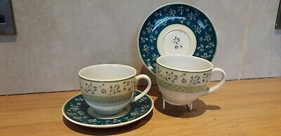 Quality...wedgwood...cups And Saucers...alpine...lovely Colours • 2.95£
