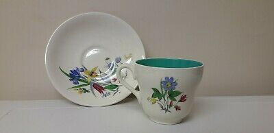Vintage..retro..grindley...pretty.. Cup And Saucer...brightly Coloured Flowers • 1.95£