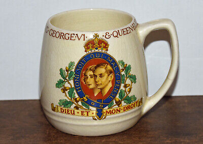 King George V1 & Queen Elizabeth  Coronation Mug • 4£