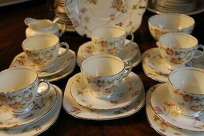 Sutherland China Tea Set 21 Pieces Pink Flowers • 28£