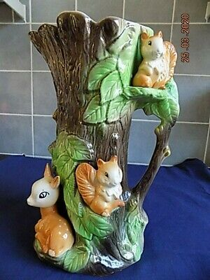Large Withernsea Fauna Squirrel And Deer Jug - Height 29cm • 10£