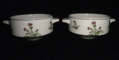 Maddock Hotelware Thistle Design Ceramic Soup Gratin Dish Pair Excellent Cond  • 9.99£