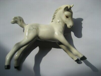 A Vintage Small White Beswick White Spotted Foul Horse Palamino Figurine   • 34.99£