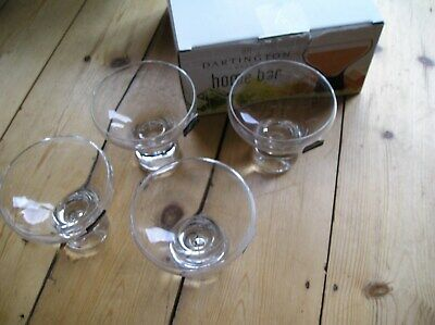 Dartington Crystal Coupe Glasses, 4 X 16cl, New In Box • 10£