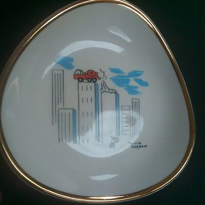 Wade Pin Dish David Langdon Cartoonist - RMC Cement Skyscraper ( Punch ) • 24.99£