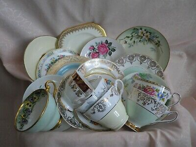 Lovely Vintage Set Of 6 Mixed Trios , 18 Pieces, Job Lot, Good Condition   (3) • 24£