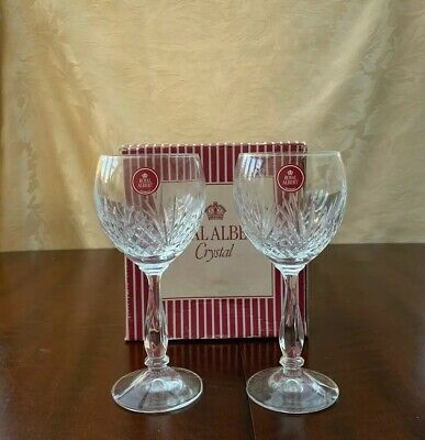Royal Albert Regency Crystal Wine Glasses Brand New In Box Excellent Condition • 14.99£