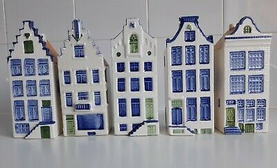 DELFT 5 X 'CANAL HOUSES', Designed By Elseva, Hand-painted Ceramic, Dutch • 19£
