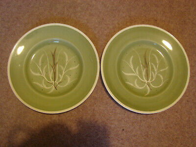 Susie Cooper - Two Early Plates - Chinese Fern • 5£